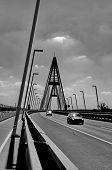 Traffic On Modern Bridge