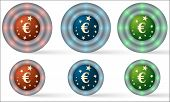 Set Of Six Icons With Euro Symbol