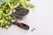 Dry Green Tea With Linden