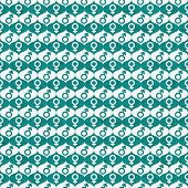 Teal And White Male And Female Gender Symbol Repeat Pattern Background