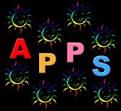 Kids Apps Means Application Software And Web