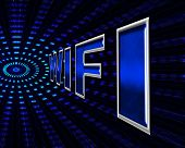 Wifi Online Means World Wide Web And Wireless