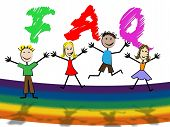 Kids Faq Means Frequently Asked Questions And Youngster