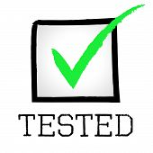 picture of confirmation  - Tick Tested Representing Excellence Tests And Confirm - JPG