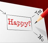 Happy Choice Represents Joy Cheerful And Alternative
