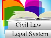 stock photo of judiciary  - Civil Law Showing Crime Judiciary And Legally - JPG