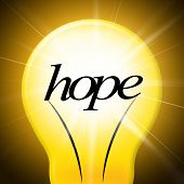 Hope Lightbulb Represents Want Wishes And Wants
