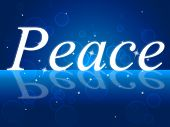 Peace Relaxation Represents Love Not War And Calm