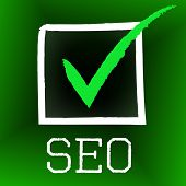 Seo Tick Indicates Confirmed Correct And Pass