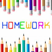 School Education Indicates Learning Homework And Study