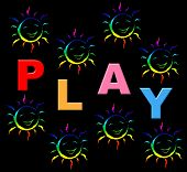 Playing Play Indicates Free Time And Kid