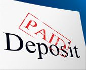 Paid Deposit Shows Part Payment And Advance