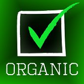 Tick Organic Shows Checkmark Healthy And Confirmed