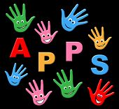 Apps Kids Means Application Software And Youngsters