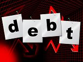 Debts Debt Indicates Financial Obligation And Liabilities