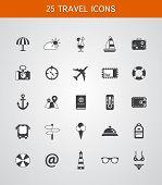 Set of travel flat design icons