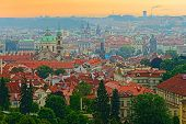 bird's-eye view on the Prague