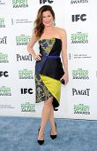 LOS ANGELES - MAR 01:  Kathryn Hahn arrives to the Film Independent Spirit Awards 2014  on March 01,