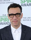 LOS ANGELES - MAR 01:  Fred Armisen arrives to the Film Independent Spirit Awards 2014  on March 01, 2014 in Santa Monica, CA.