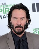 LOS ANGELES - MAR 01:  Keanu Reeves arrives to the Film Independent Spirit Awards 2014  on March 01, 2014 in Santa Monica, CA.