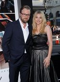 LOS ANGELES - AUG 20:  Joshua Leonard & Chloe Grace Moretz arrives to the 'If I Stay' Hollywood Prem