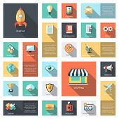 Set of modern flat design business infographics icons
