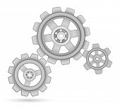 gears cogs with bearing design background