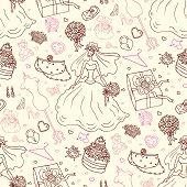 Seamless wedding patterns.