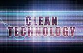 Clean Technology on a Tech Business Chart Art