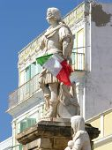 Statue With Italian Flag