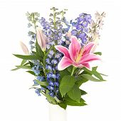 Bouquet Of Flowers In Square Frame