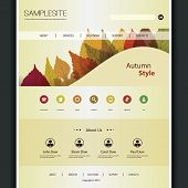 Website Template for Your Business - Autumn Style