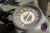 Old Army motorcycle meter