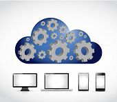 Cloud Computing Gear Industrial Diagram Technology