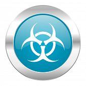 biohazard internet blue icon