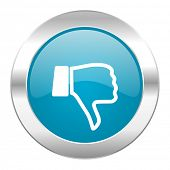stock photo of dislike  - dislike internet blue icon - JPG