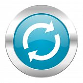 reload internet blue icon