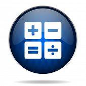 calculator internet blue icon