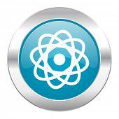 atom internet blue icon