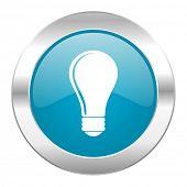 bulb internet blue icon