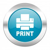 printer internet blue icon