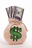 Money Bag Full Of Cash
