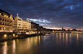 Basel In Dusk Time