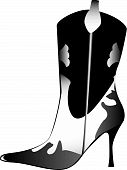 High heeled womans boot