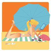 Girl In Bikini On Beach Mat Deals On Smartphone