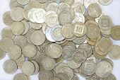 picture of shekel  - This picture shows a lot of coins - JPG