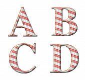 Candy Cane Alphabet