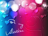 Simple valentine greeting card