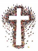 stock photo of christianity  - People finding Christianity - JPG