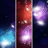 Multicolor Music Notes Banners